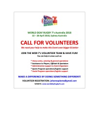 WDR7's CALL FOR VOLUNTEERS NEWSFLASH