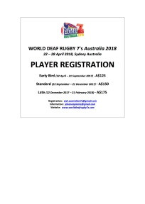 WDR7's PLAYER REGISTRATION Newsflash