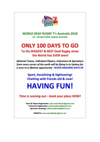 WDR 7's 100 DAYS TO GO NEWSFLASH