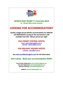 WDR 7's HOSTEL ACCOMMODATION NEWSFLASH